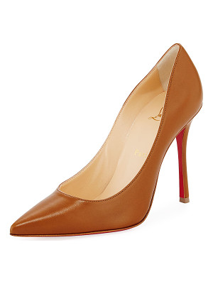 Christian Louboutin Decoltish Point-Toe Red Sole Pump