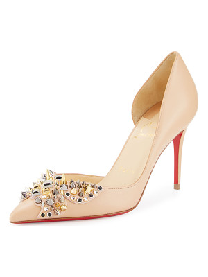 CHRISTIAN LOUBOUTIN Farfa Spikes Half-D'Orsay 85mm Red Sole Pump