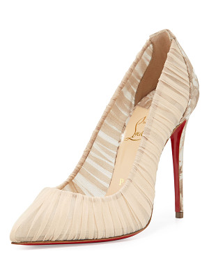 Christian Louboutin Follie Draperia Ruched Red Sole Pump