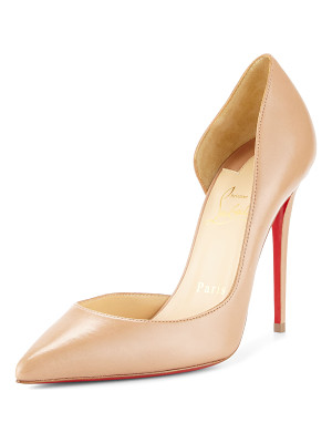 CHRISTIAN LOUBOUTIN Iriza Half-D'Orsay 100mm Red Sole Pump