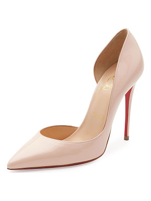 Christian Louboutin Iriza Patent Half-d'Orsay 100mm Red Sole Pump