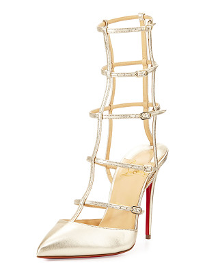Christian Louboutin Kadreyana Caged 100mm Red Sole Pump