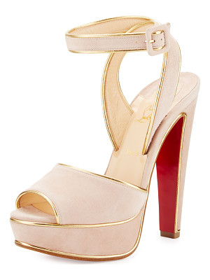 CHRISTIAN LOUBOUTIN Louloudance Suede Platform Red Sole Sandal