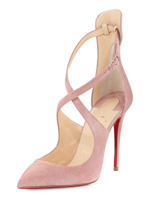 Christian Louboutin Marlenarock Crisscross Suede Red Sole Pump