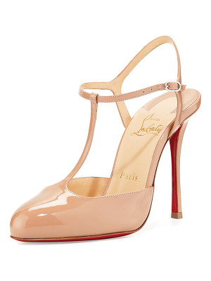 CHRISTIAN LOUBOUTIN Me Pam Patent T-Strap 100mm Red Sole Pump