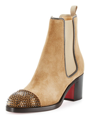 Christian Louboutin Otaboo Spike-Toe 70mm Red Sole Bootie