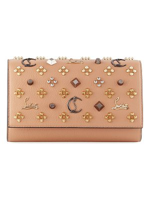 CHRISTIAN LOUBOUTIN Paloma Fold-Over Embellished Clutch Bag