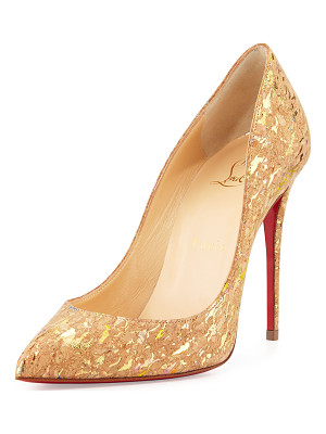 CHRISTIAN LOUBOUTIN Pigalle Follies Cork 100mm Red Sole Pump