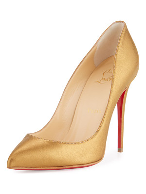 CHRISTIAN LOUBOUTIN Pigalle Follies Leather 100mm Red Sole Pump