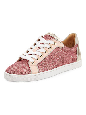 Christian Louboutin Seava Woman Glitter Red Sole Low-Top Sneaker