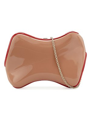 CHRISTIAN LOUBOUTIN Shoespeaks Lacquered Clutch Bag