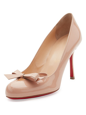 Christian Louboutin Vinodo Patent Bow 85mm Red Sole Pump