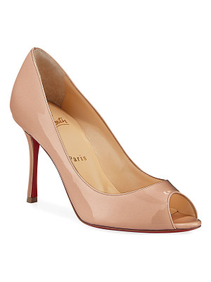 CHRISTIAN LOUBOUTIN Yootish 85mm Peep-Toe Red Sole Pump