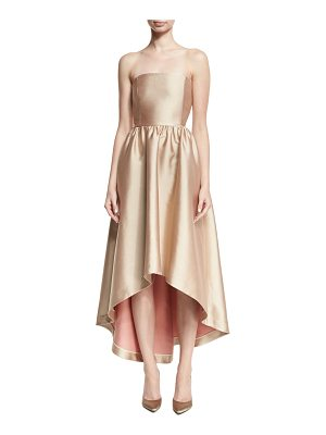 Co. Strapless Satin High-Low Cocktail Dress