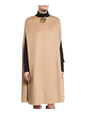 CO. Textured Flannel Cape With Lunar Embellishment