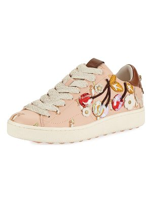 COACH C101 Cherries Patches Platform Sneaker