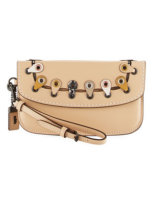 COACH Exotic Linked Leather Clutch Bag