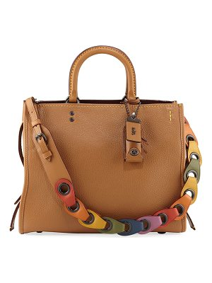 COACH Rogue Glove-Tanned Pebbled Tote Bag