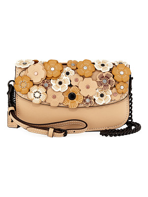 COACH Tea Rose Leather Clutch Bag
