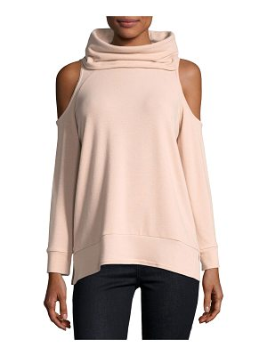 cupcakes and cashmere Malden Cowl-Neck Cold-Shoulder Knit Pullover