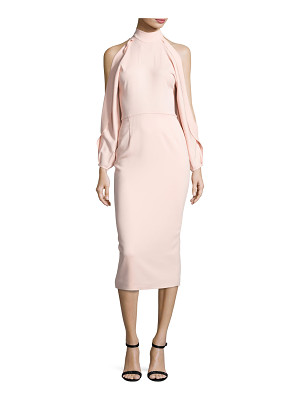 Cushnie et Ochs Bell-Sleeve Mock-Neck Sheath Dress