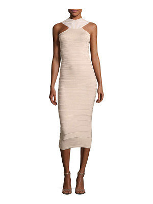 Cushnie et Ochs Sleeveless Bandage Midi Cocktail Dress