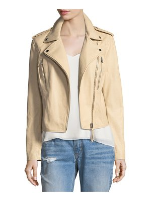 DEREK LAM 10 CROSBY Leather Motorcycle Jacket