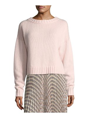 DEREK LAM Cropped Cotton-Cashmere Sweater