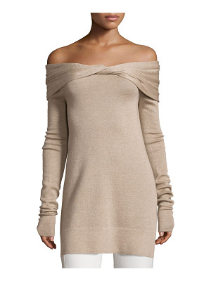 Derek Lam Twisted Off-Shoulder Long-Sleeve Tunic