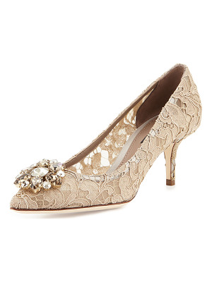 DOLCE & GABBANA Jewel-Embellished Lace Pump