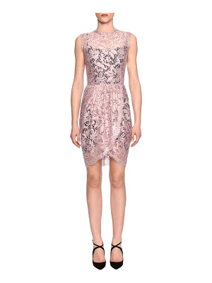 Dolce & Gabbana Sleeveless Floral-Lace Sheath Dress