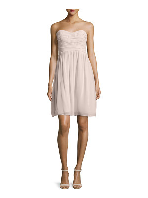 Donna Morgan Strapless Ruched Cocktail Dress