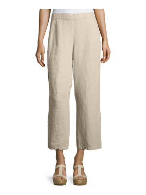 Eileen Fisher Organic Linen Straight-Leg Ankle Pants