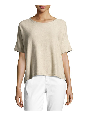 EILEEN FISHER Organic Silk Sequined Top