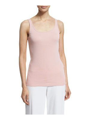 Eileen Fisher Scoop-Neck Long Slim Tank