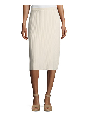EILEEN FISHER Sleek Ribbed Pencil Skirt