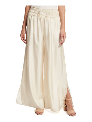 Elizabeth and James Elton Wide-Leg Stretch Satin Pants