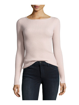 Elizabeth and James Fay Long-Sleeve Ribbed Tie-Back Top