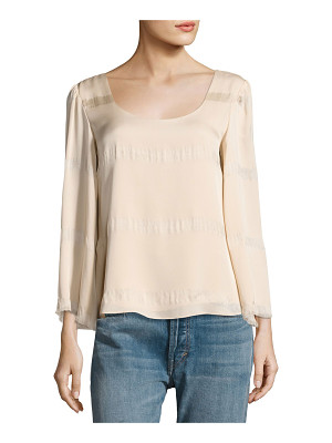 Elizabeth and James Jesper Scoop Neck Fringe Top