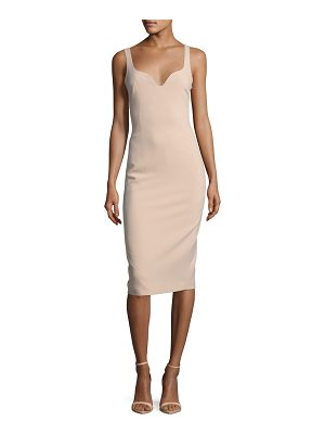ELIZABETH AND JAMES Nevyn Sleeveless Scuba Fitted Bustier Dress