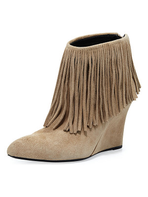 ELYSEWALKER LOS ANGELES Fringed Suede Ankle Boot