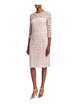 ESCADA Lace 3/4-Sleeve Sheath Dress