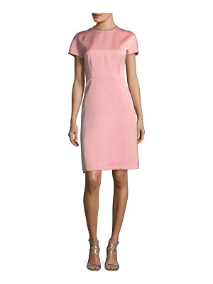 ESCADA Satin Embellished-Collar A-Line Cocktail Dress