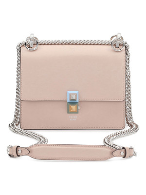 FENDI Kan I Mini Leather Chain Shoulder Bag