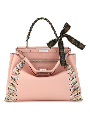 FENDI Peekaboo Medium Ribbon Whipstitch Satchel Bag