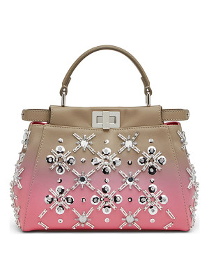 FENDI Peekaboo Mini Crystal Satchel Bag