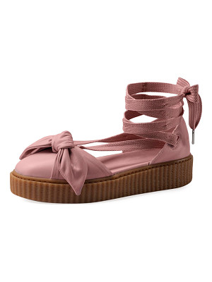 FENTY PUMA by Rihanna Bow Leather Creeper Sandal