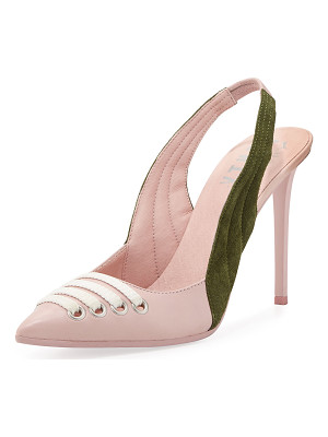 FENTY PUMA BY RIHANNA Lace-Up Leather Slingback Pump