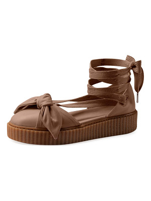FENTY PUMA BY RIHANNA Leather Bow Creeper Sandal