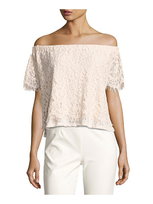 GENERATION LOVE Carly Off-The-Shoulder Lace Top